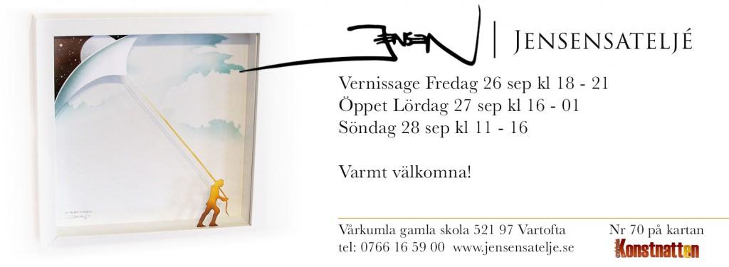 Vernissagekort-Jensensatelje